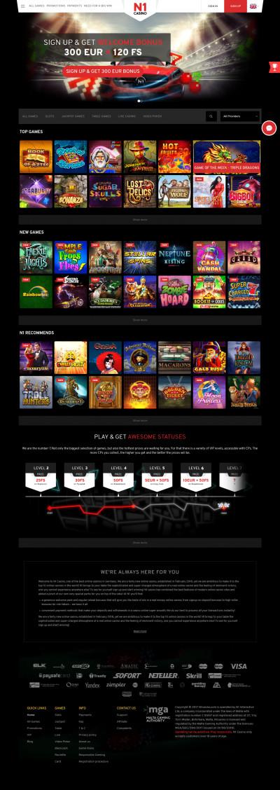 N1 Casino kuvakaappaus