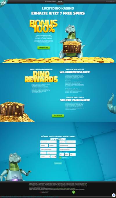 LuckyDino Casino kuvakaappaus