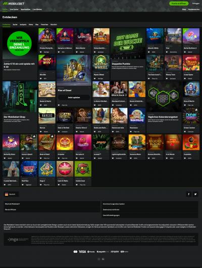 Mobilebet Casino Screenshot