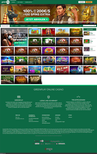 Greenplay Casino Screenshot