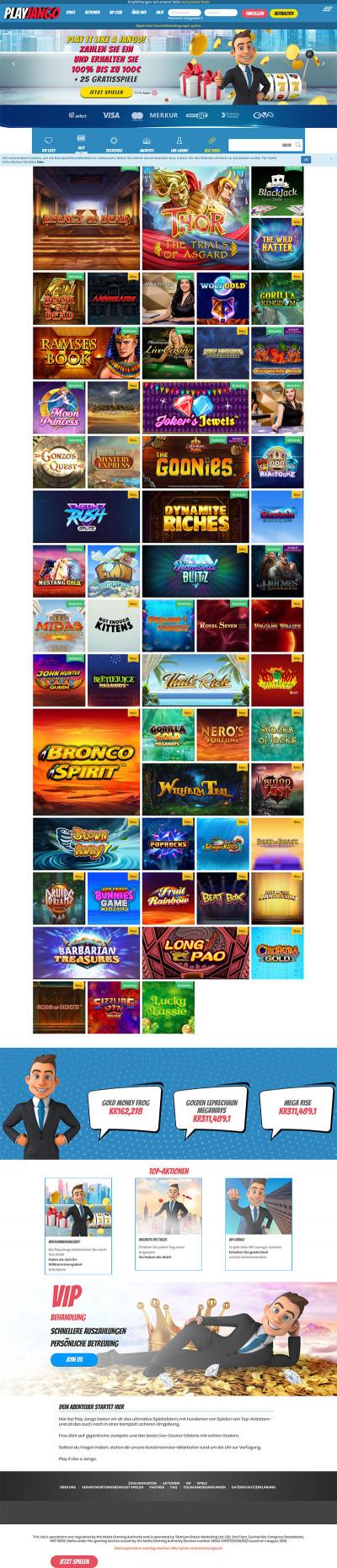 Play Jango Casino Screenshot