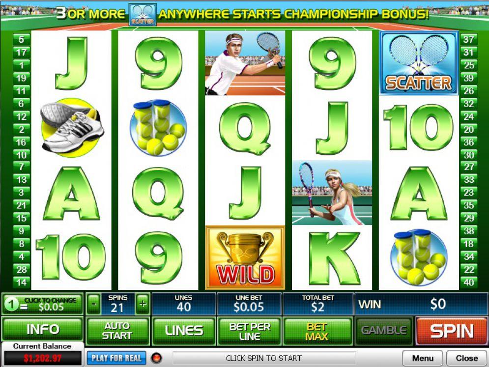 Tennis Star Slot Images - CasinoTop