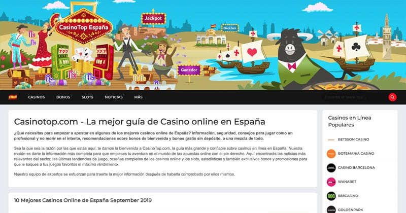 CasinoTop España Screenshot
