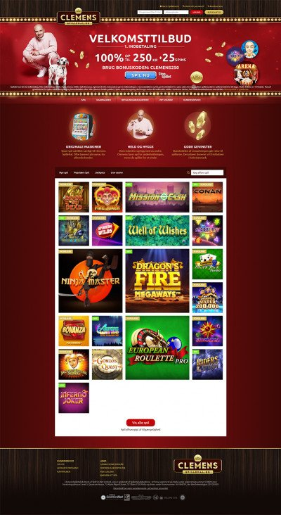 Clemens Spillehal Casino Screenshot