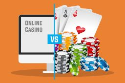 Online vs. landbaserede casinoer