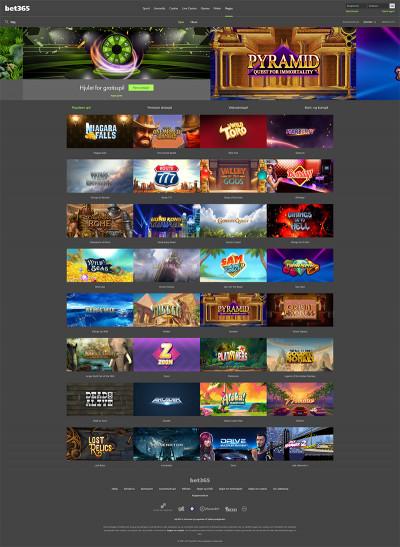 Bet365 Vegas Casino Screenshot