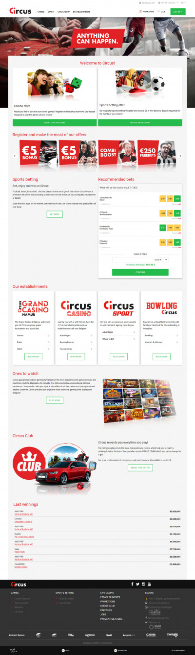 Circus Casino Screenshot