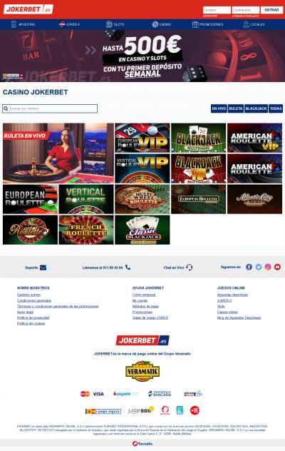 Jokerbet Casino Screenshot