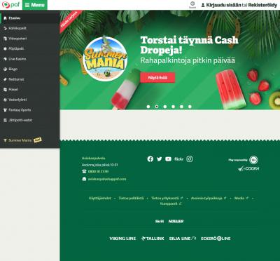Paf Casino Screenshot