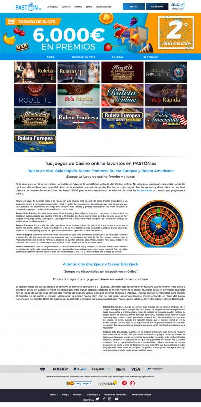 Pastón Casino Screenshot