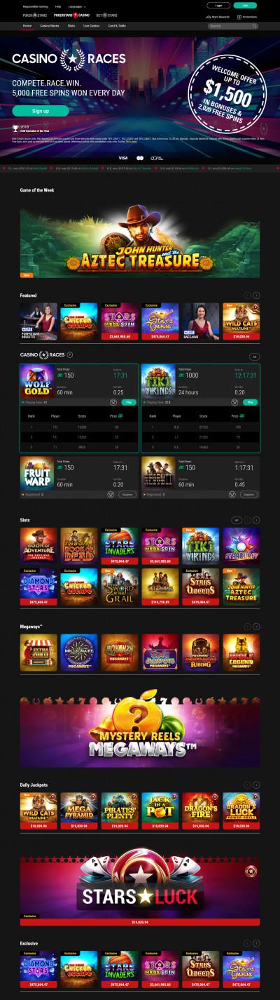 Pokerstarts Casino kuvakaappaus
