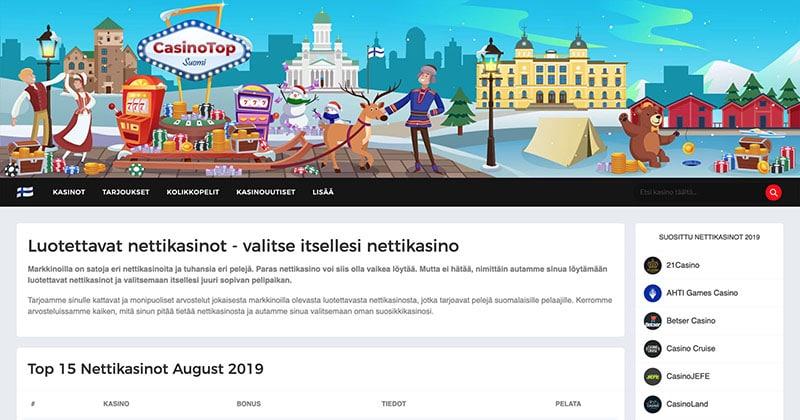 CasinoTopp Suomi Screenshot