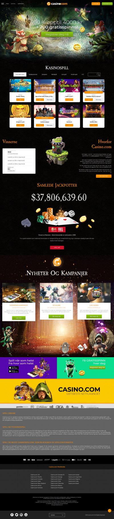 Casino.com kuvakaappaus