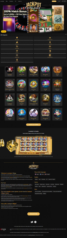 JackpotVillage Casino Screenshot
