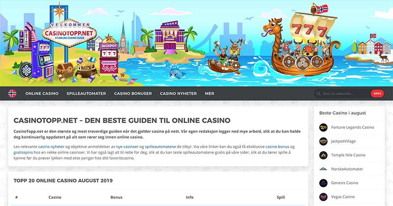 CasinoTopp Norge Screenshot