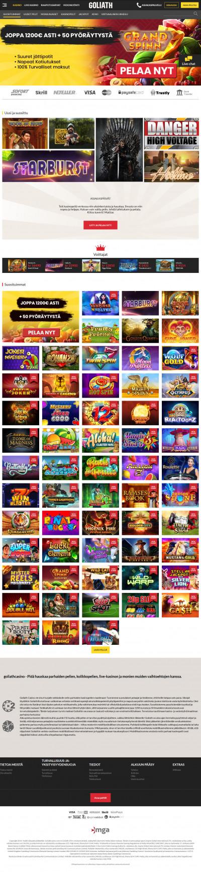 Goliath Casino kuvakaappaus