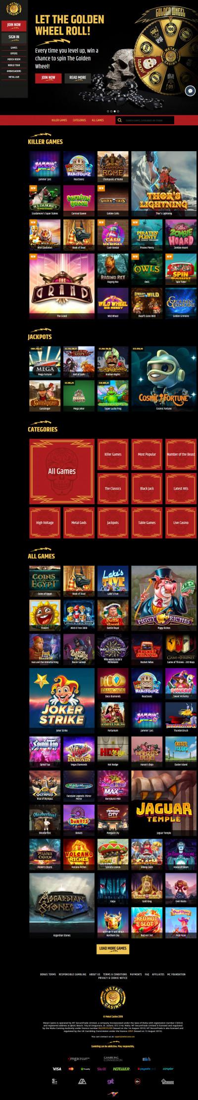 Metal Casino kuvakaappaus