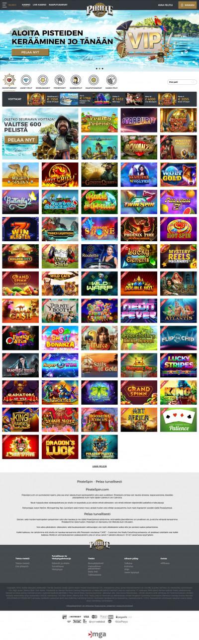 PirateSpin Casino kuvakaappaus