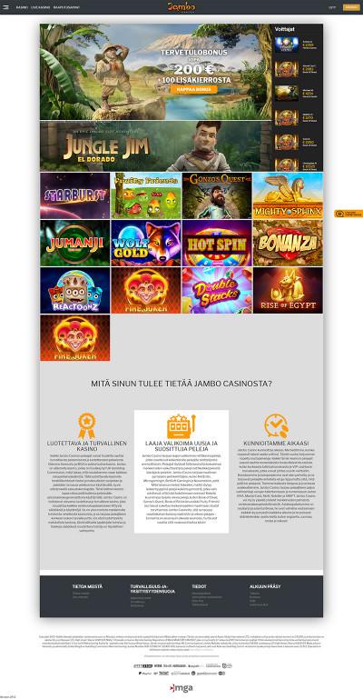 Jambo Casino Screenshot