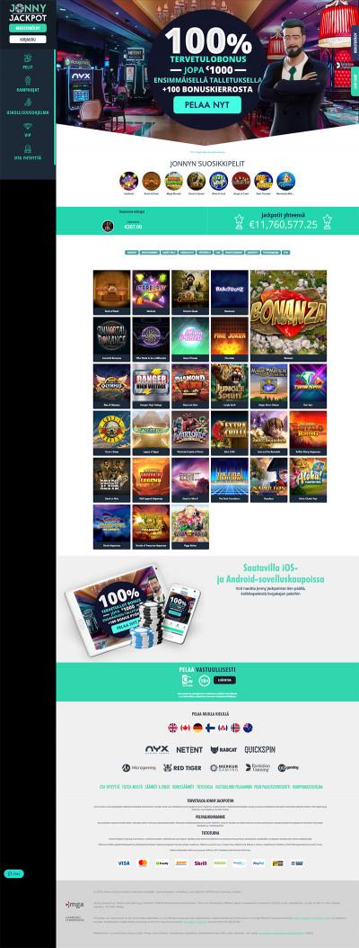 Jonny Jackpot Casino Screenshot