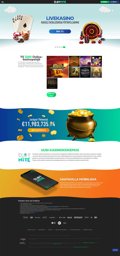 Slotnite Casino Screenshot