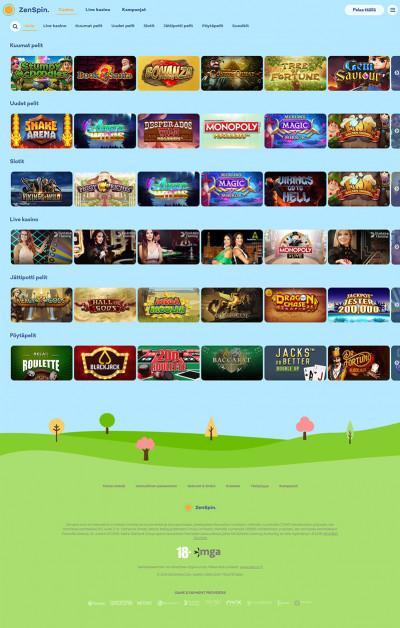 ZenSpin Casino Screenshot