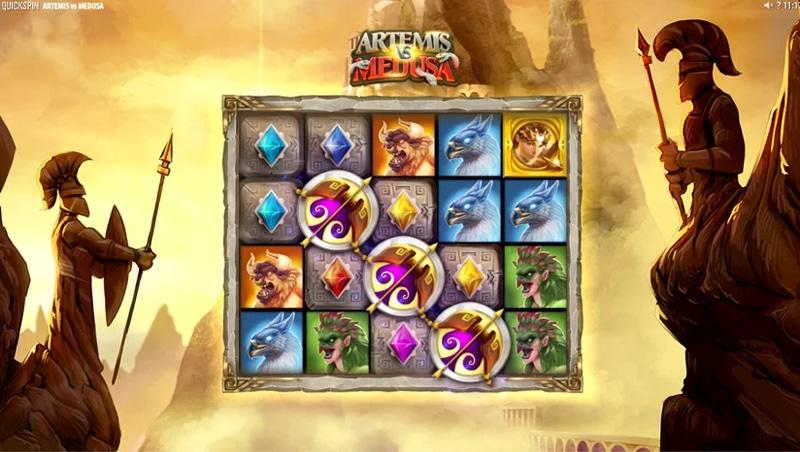 Artemis & Medusa Quickspinin uusi kolikkopeli tulossa markkinoille elokuussa Banner - CasinoTop