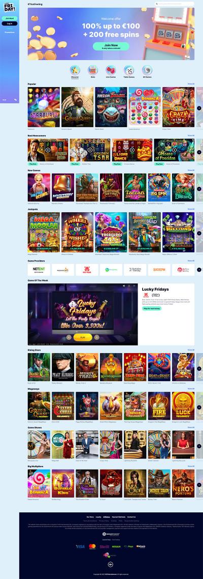 CasinoFriday Screenshot