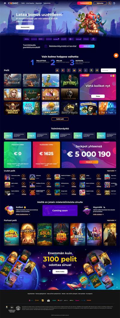 CosmicSlot Casino Screenshot