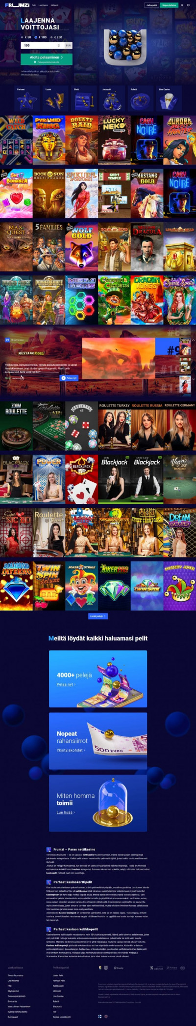 Frumzi Casino Screenshot