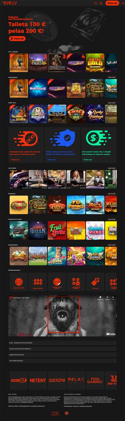 Klirr Casino Screenshot