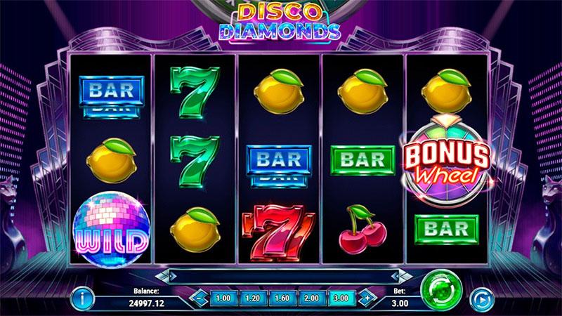 Playn GOn Disco Diamonds saa sinut jammailemaan Screenshot - CasinoTopp