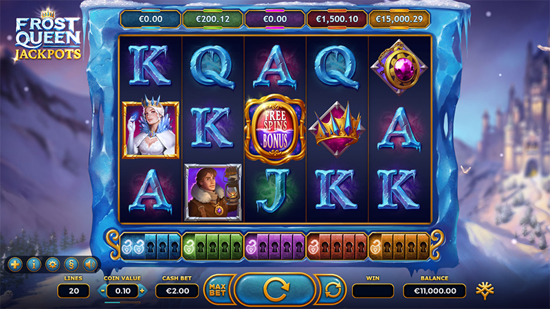 Queen Frost Jackpots tulossa tammikuun 21 paiva Yggdrasil Gamingilta Slot Images - CasinoTop