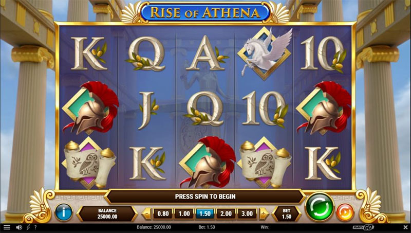 Rise of Athena on Playn GOn uusi muinaiseen Kreikkaan liittyva kolikkopeli Screenshot - CasinoTop