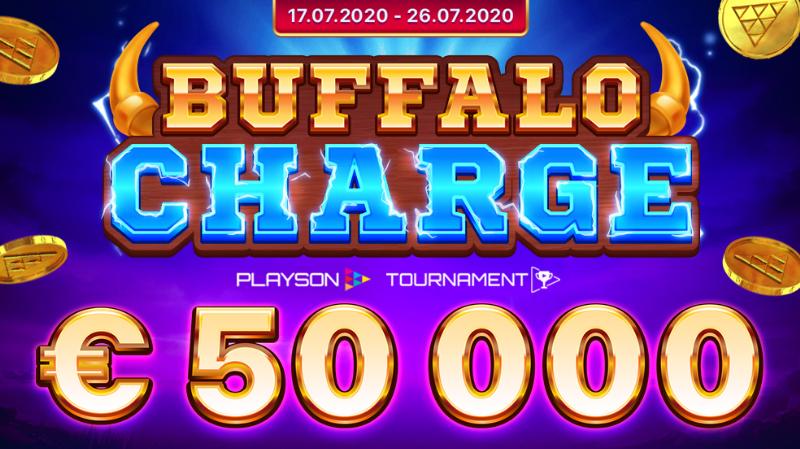 【7月27日まで】Playson社主催の豪華キャンペーン『バッファロー・チャージ・トーナメント』開催中 ! Banner - CasinoTop