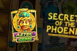 ベラジョンカジノでいち早く遊べる新作スロットゲームを紹介【Aztec Gems Deluxe、Secrets of the Phoenix】