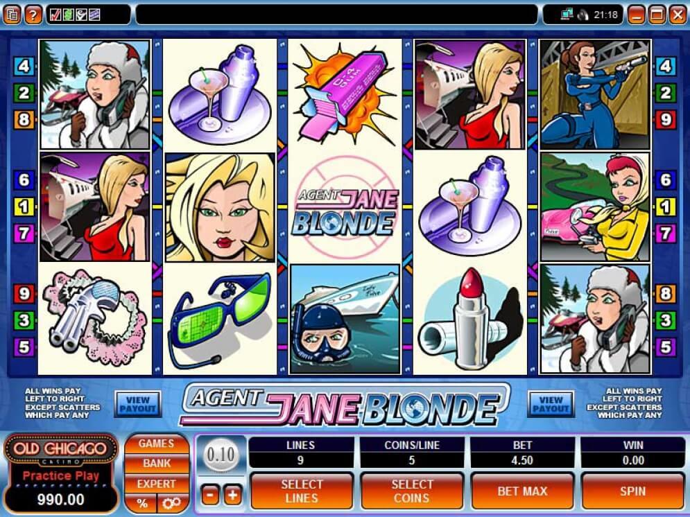 Agent Jane Blonde Slot Images - CasinoTop
