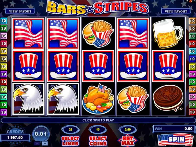 Bars and Stripes Slot Screenshot - CasinoTop