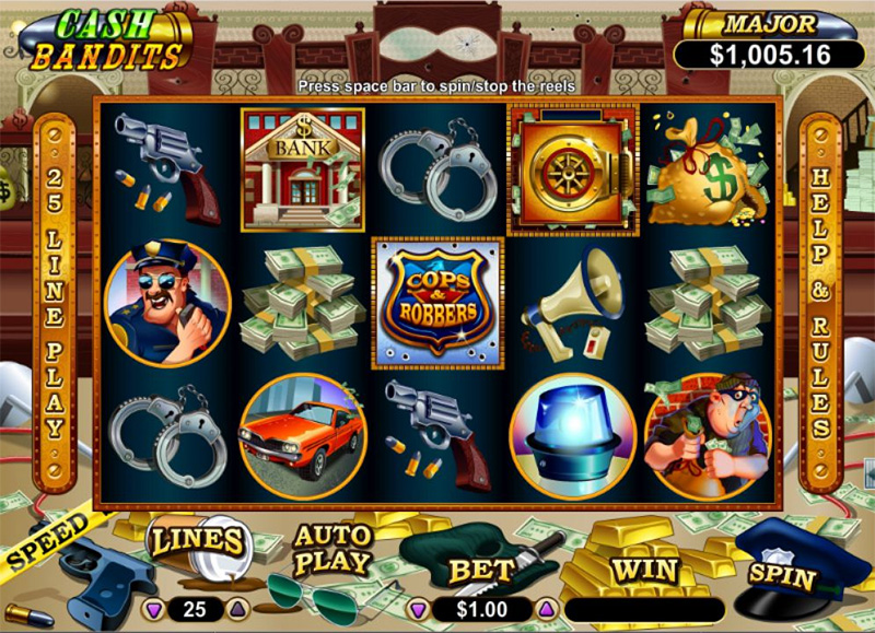 Cash Bandits Slot Images - CasinoTop