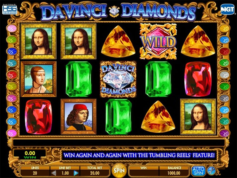 Da Vinci Diamonds Slot Screenshot - CasinoTop