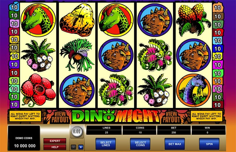 Dino Might Slot Screenshot - CasinoTop