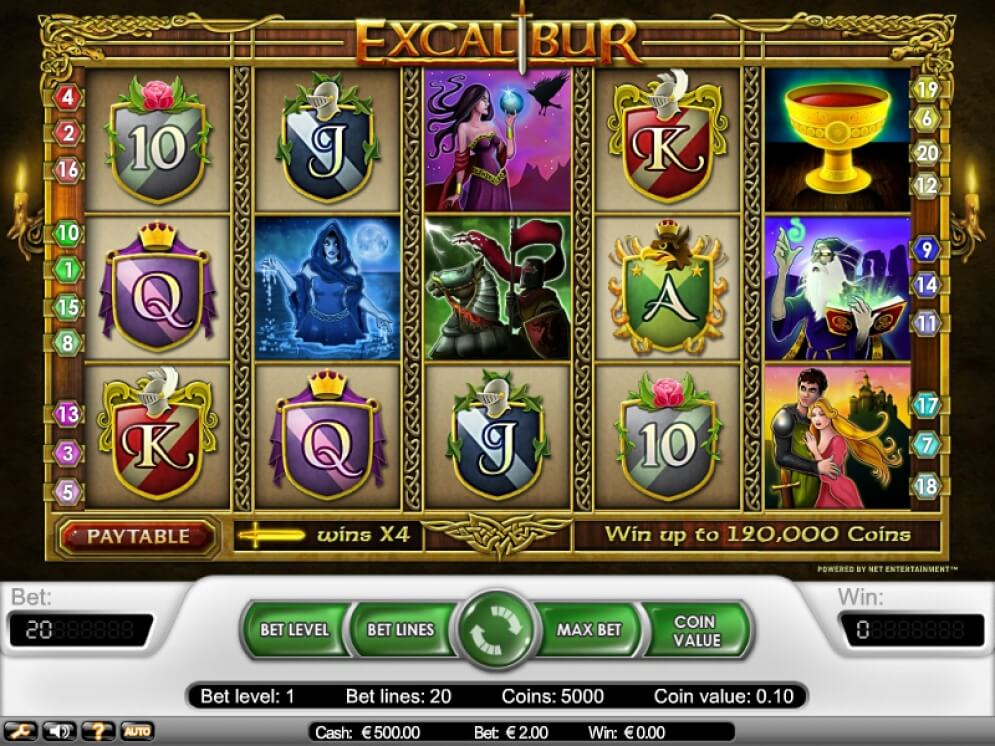 Excalibur Slot Images - CasinoTop