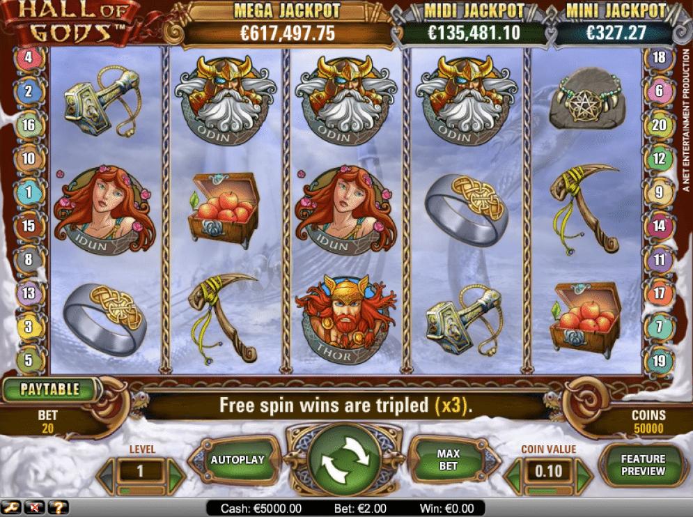 Hall of Gods Slot Images - CasinoTop