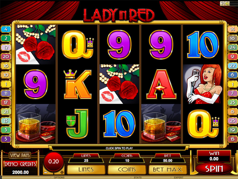 Lady in Red Slot Screenshot - CasinoTop