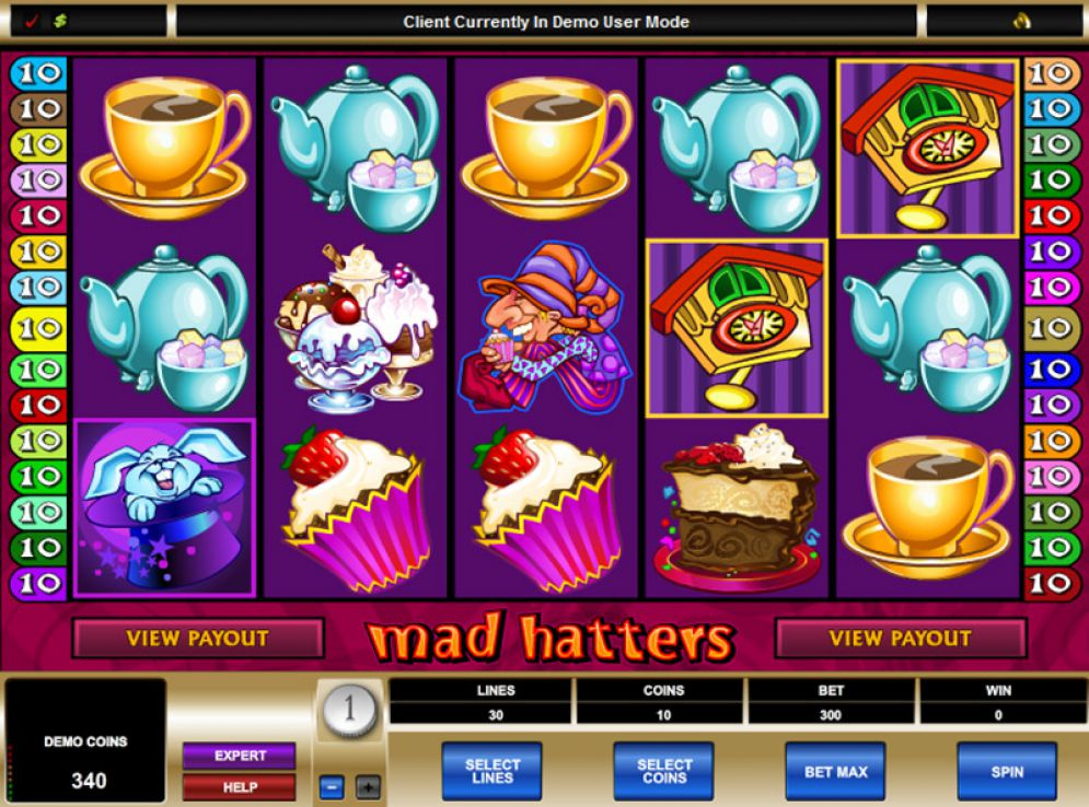 Mad Hatters Slot Images - CasinoTop