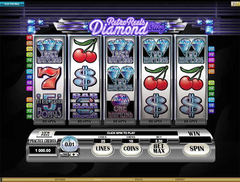 Retro Reels Diamond Glitz Slot Images - Casinotop
