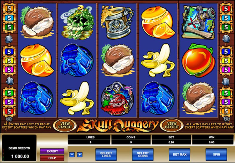 Skull Duggery Slot Screenshot - CasinoTop