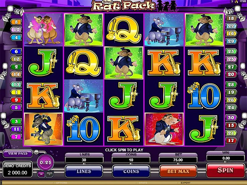 The Rat Pack Slot Images - Casinotop