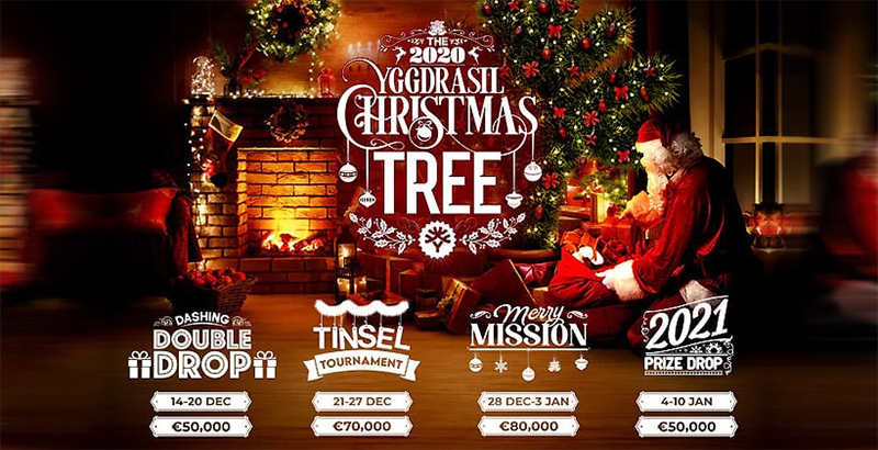 Until January 11 Win a nice prize Yggdrasil planning campaign Christmas tree Banner - CasinoTop