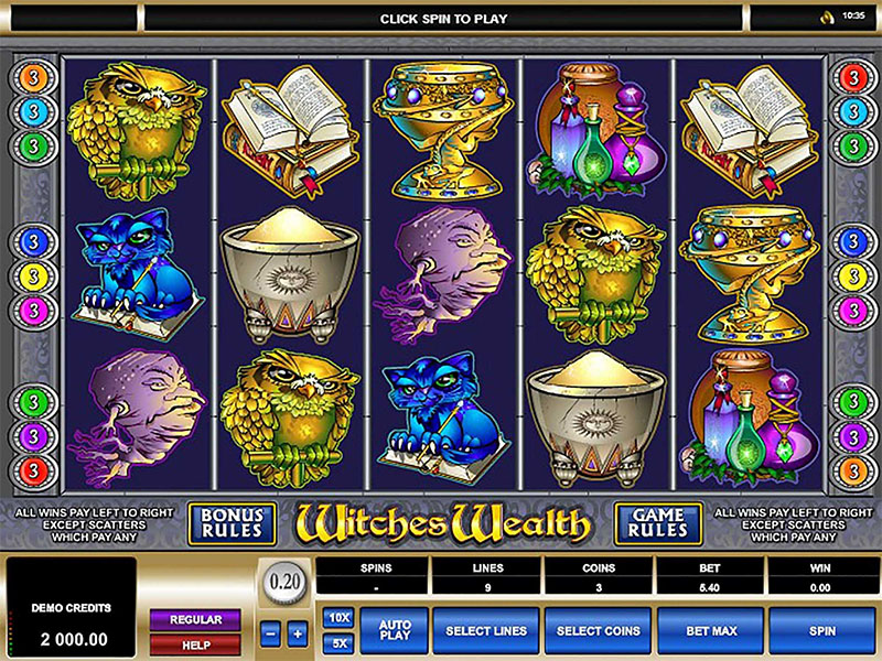 Witches Wealth Slot Screenshot - CasinoTop